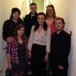 Blood Brothers Bardic Theatre play tour cast backstage at the Ardhowen Theatre